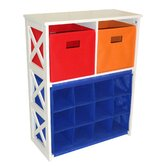 X-Frame Storage with 2 Bins and 12-Slot Cubby