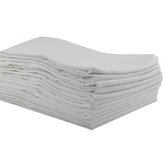 12 Pack Standard Cot Sheets in White