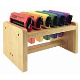 6 Piece Paper Crimpers in Hardwood Rack