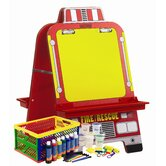 Fire Engine Easel with Paint Crate