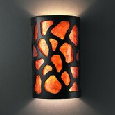 Ambiance Open Top and Bottom Small Cobblestones Wall Sconce