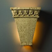 Tuscan Garden Open Top and Bottom Tall Tapered Outdoor Wall Sconce with Egg and Dart Design