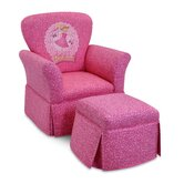 Pinkalicious Skirted Kid's  Rocking Chair and Ottoman Set