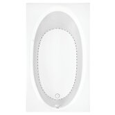 "Symphony 6 60"" Rectangle Air Bath Tub in White"