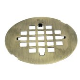 Snap-In Strainer Grid Shower Drain