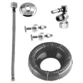 Ball Valve Toilet Kit and Wax Ring with Lever Handle