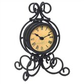 Black Wrought Iron Table Clock