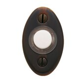"2"" x 1.125"" Oval Doorbell Button"