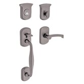 Tahoe Single Cylinder Handle Set in Distressed Antique Nickel