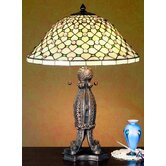 "24"" H Diamond and Jewel Table Lamp"