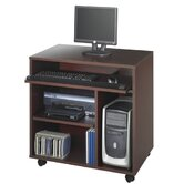 Computer Workstation in Mahogany