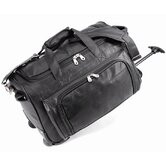 20&quot; Status Koskin Leather 2-Wheeled Carry-On Duffel