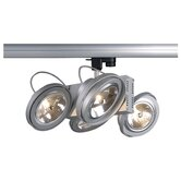 Tec Four Light Track Light in Silver Grey with 3 Phase Adapter