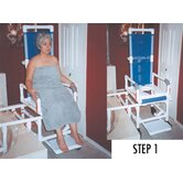 One Step Locking System Tilt N Space Transfer Chair