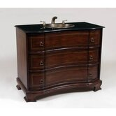 Vanity with Brushed Antique Gold Sink in Medium Brown
