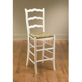 Ladder Back Bar Stool in White