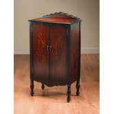 Cabinet with Foliage Design in Antique Medium Brown