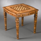 Four Drawer Reversible Top Game Table in Medium Brown