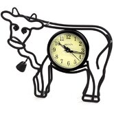 Cow Silhouette Table Clock