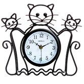 Silhouette Cat Table Clock