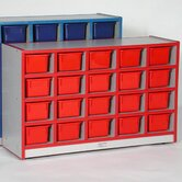 20-Tray Cubbie Unit with Trays