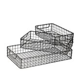3 Piece Iron Mesh Tray Set