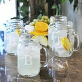 Old Fashioned Drinking Jar (Set of 4)