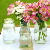 Personalized Mason Jar Vase (Set of 4)