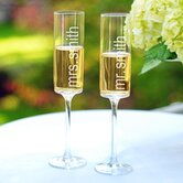 Contemporary Champagne Flutes (Set of 2)