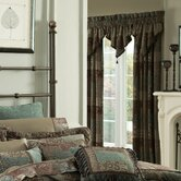 Galleria Chocolate Pole Top Drape (Set of Two)