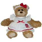 "8"" Daisy Heart Bear in Heart Costume"