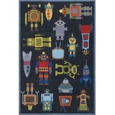 Whimsy Steel Blue Kids Rug