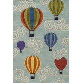 Lil Mo Whimsy Hot Air Balloons Kids Rug