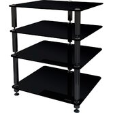 Bergen 2 4-Shelf Hifi Stand in Glossy Black