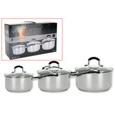 Hell's Kitchen II Luna 3 Piece Pan Set (Gift Boxed)