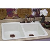 Advantage Chepachet 55/45 Double Bowl Self Rimming Kitchen Sink