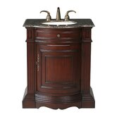 "Catherine 30"" Single Bathroom Vanity with Baltic Brown Granite Top in Cherry Red"