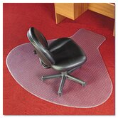 Workstation Chair Mat, Professional Series Anchorbar for Carpet Up To 0.75""