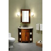 Carlton 20&quot; Corner Bathroom Vanity Set in Antique Maple