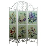 Glazed Floral Screen
