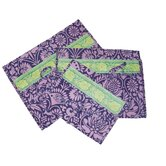 Safia Lingerie Envelopes in Sari Flowers Navy