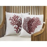 Assorted Coral Design Throw Pillow (Set of 2)
