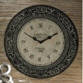 Venezia Clock Design Decorative Metal Wall Plaque