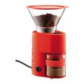 Bistro Electric Burr Grinder in Red