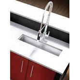 "UrbanEdge 43.5"" x 8.5"" Undermount Stainless Steel Single Bowl Specialty Sink"