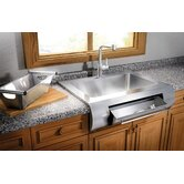 "Classic 36"" x 28"" Farmhouse Stainless Steel Single Bowl Kitchen Sink"