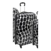 "Shiny Oval Wave 24"" Upright Suitcase"