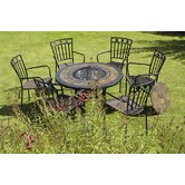 Durango Fire Pit Table and Malaga Chair Collection