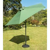 270cm Tuscany Parasol in Green with Base