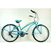 Ladies 26&quot; Aluminum 7-Speed Shimano Premium Extended Deluxe Beach Cruiser